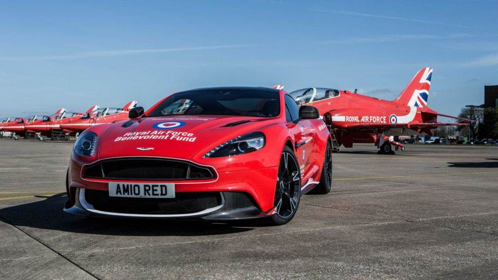 Aston Martin Vanquish S Red Arrows   Air Force Supercar