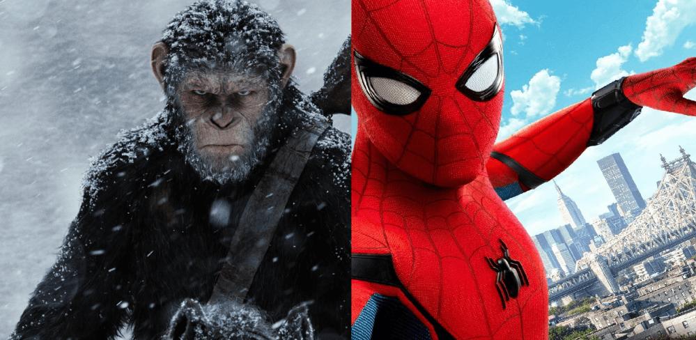Spiderman vs Planet  Affen  Box Office Battle