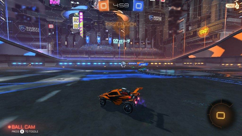 Rocket League Switch gameplay