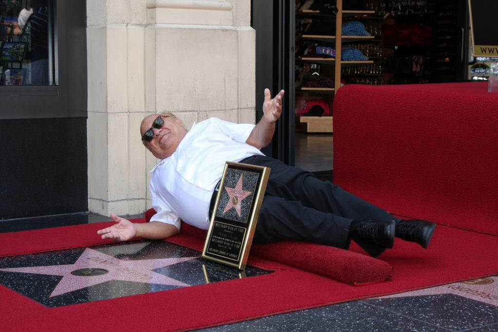 LOS ANGELES - AUG 18:  Danny DeVito at the ceremony as Danny DeVito Receives a Star  at Hollywood Walk of Fame on the August 18, 2011 in Los Angeles, CA